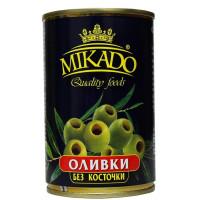 Оливки Микадо зеленые б/к ж/бн 300г