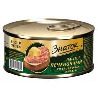 Паштет Знаток Печеночный со сливочным маслом ГОСТ 100г