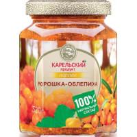 Варенье Карельский продукт домашнее из морошки с облепихой 320г ст/б