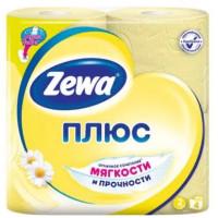Бумага туалетная Зева аромат ромашки 2-х слойная 4 рулона