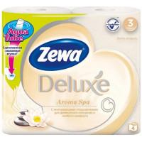 Бумага туалетная Зева делюкс аромаспа 3-х-слойная 4 рулона