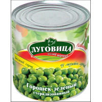 Горошек Луговица зеленый 400г ж/б