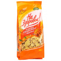 Завтрак сухой Кунцево кукурузные хлопья медовые 350г