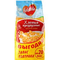 Завтрак сухой Любятово кукурузные хлопья 600г