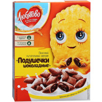 Завтрак сухой Любятово подушечки с шок. нач. 250г
