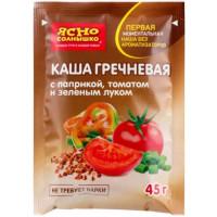 Каша Ясно солнышко гречневая с паприкой, томатом и зеленым луком 45г