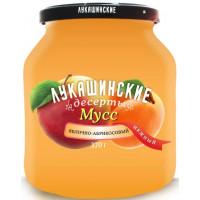 Мусс Лукашинские яблочно-абрикосовый нежный 370г