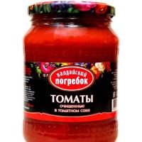 Томаты Валдайский погребок очищенные в томатном соке 720мл ст/б