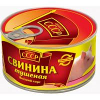 Свинина Сделано в СССР тушеная в/с 325г ж/б