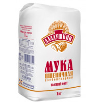 Мука Аладушкин пшеничная в/с 1кг