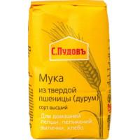 Мука С.Пудовъ из твердой пшеницы 500г