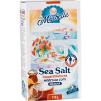 Соль Марбелл йодированная морская пищевая 750г