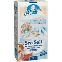 Соль Марбелл натуральная морская мелкая 750г