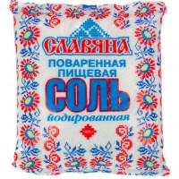 Соль Славяна пищевая поваренная йодированная помол №1 1кг