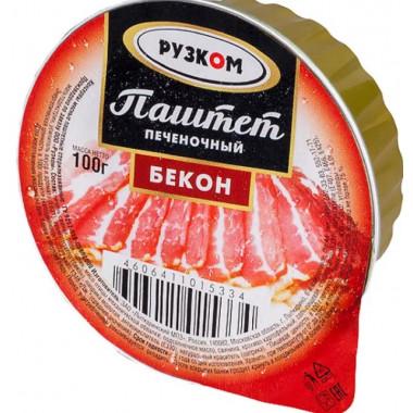 Паштет Рузком Бекон печеночный 100г лам