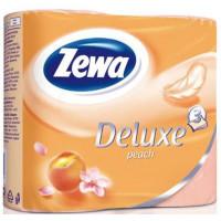 Бумага туалетная Зева делюкс персик 3-х-слойная 4 рулона