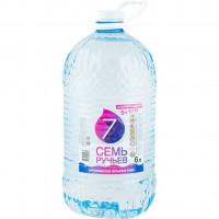Вода Семь ручьев окуловская питьевая негаз 6л