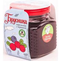 Варенье Мама Карелия Брусника карельская с черникой 250г ст/б