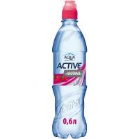 Напиток Аква Минерале Актив негаз со вкусом малины 0,6л
