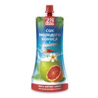Напиток 28 Сидс сок молодого кокоса + грейпфрут 250мл