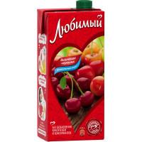 Напиток сокосодержащий Любимый яблоко-вишня-черешня 0,95л