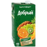 Нектар Добрый из смеси фруктов мультифрут 2л