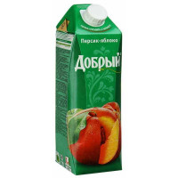 Нектар Добрый персиково-яблочный 1л