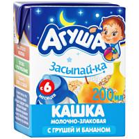 Каша Агуша Засыпай-ка молочно- злаковая с грушей и бананом 2,7% 200мл