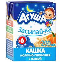 Каша Агуша Засыпай-ка молочно- пшеничная с тыквой 2,7% 200мл