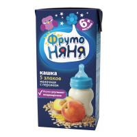 Кашка Фруто-няня 5 злаков молочная с персиком готовая к употреблению 200г