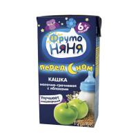 Кашка Фруто-няня гречневая молочная с яблоками готовая к употреблению 200мл