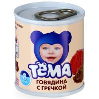 Пюре Тема говядина/греча с 7мес. 100г ж/б