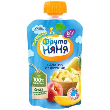 Пюре Фруто-няня салатик из фруктов с 6мес. 90г