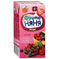 Морс Фруто-няня из ягод клюква/черника/вишня 200мл