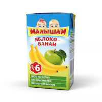 Нектар Малышам яблоко-банан с 6мес 0,2л