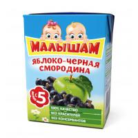 Нектар Фруто-няня Малышам яблоко-черная смородина 0,2л