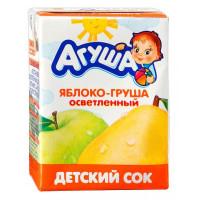Сок Агуша яблоко и груша осветленный 200мл