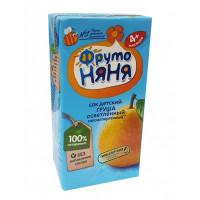 Сок Фруто-няня груша без сахара детский 200мл