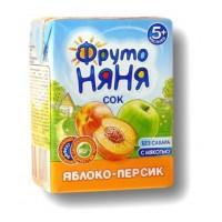 Сок Фруто-няня яблоко персик с мякотью 0,2л