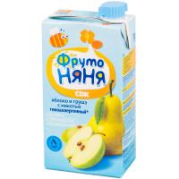 Сок Фруто-няня яблоко+груша с мякотью детский 500мл