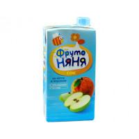 Сок Фруто-няня яблоко+персик детский 0,5л