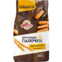 Палочки хлебные Аладушкин хрустящие классические 220г