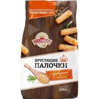 Палочки хлебные Аладушкин хрустящие с кунжутом 220г