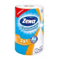 Полотенца бумажные Зева кухонные 2 в 1, 1 рулон