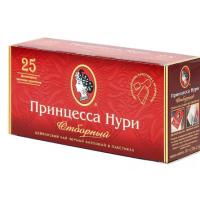 Чай Нури отборный цейлонский байховый черный 25пак. 50г