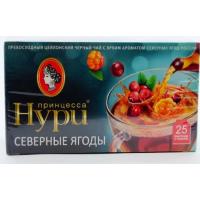 Чай Нури цейлонский байховый вкус северные ягоды 25пак. 37,5г