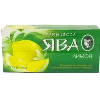 Чай Ява китайский байховый зеленый с лимоном 25пак.37,5г