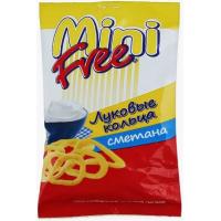 Снеки картофельные Мини фри луковые кольца, сметана 45г