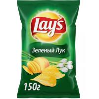 Чипсы Лэйс зеленый лук 150г