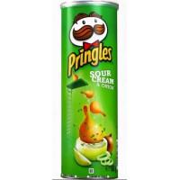 Чипсы Принглс со вкусом сметаны и лука 165г